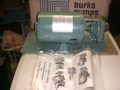 "New NOS Burks 3CT5M-SP Turbine Boiler Pump with Motor NEW IN BOX 3/4"" x 3/4"""