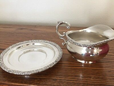Sterling Silver Sauce Boat 2 pc