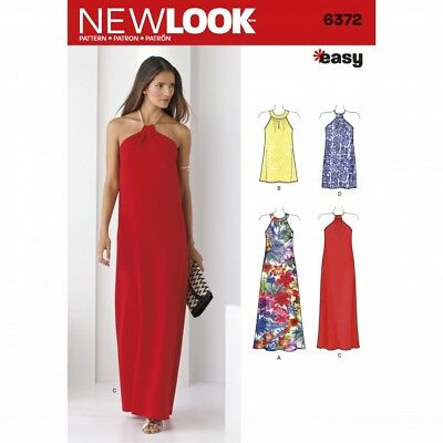 NEW LOOK SEWING Pattern 6372 Women\'s Dresses UK Sizes 6 to 18 ...