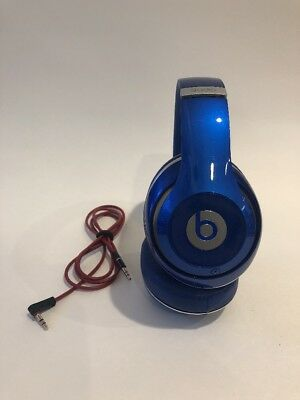 Authentic Beats by Dr. Dre Studio Wired Headphones - Blue - Fair - Please Read