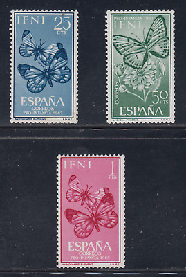 Ifni (1963) Mnh Edifil 195/97 New Free Stamp Hinges Spain - Butterflies