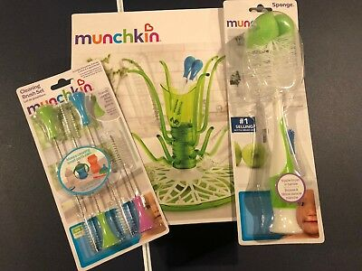 Munchkin Sprout Drying Rack for Bottles Utensils Pacifiers Pump Parts GREEN