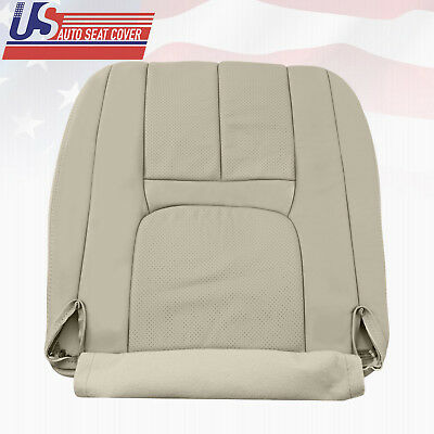 Bottom Perforated Leather Seat Cover Shale 1999-2002 Cadillac Escalade Driver