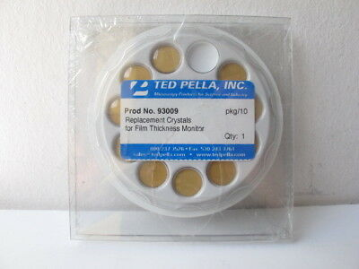 Ted Pella 93009 Replacement Crystals for Film Thickness Monitor - Pack of (10)