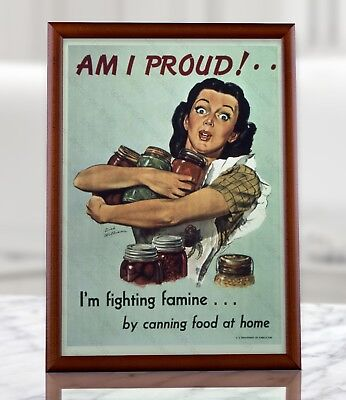 WW2 Homefront American Propaganda Poster - WWII Collectibles Kitchen Wall Decor