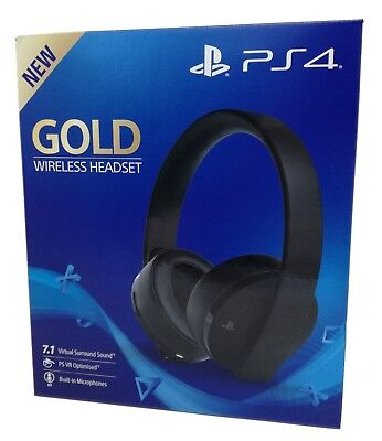 Sony PlayStation 4 PS4 Wireless Headset Gold Edition