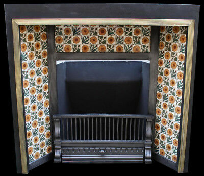 Victorian tiled Aesthetic insert Fireplace