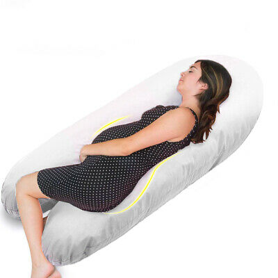 Extra Fill 12 Ft Comfort U Pillow Body Back Support Nursing Maternity Pregnancy