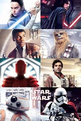 Star Wars 8 Movie Character Grid POSTER (61x91cm) Picture Print New Art Decor