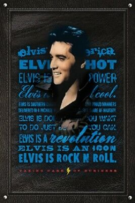 ELVIS IS ROCK 'N' ROLL POSTER (61x91cm)  PICTURE PRINT NEW ART