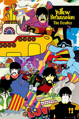 (LAMINATED) THE BEATLES YELLOW SUBMARINE POSTER 61x91cm NEW LICENSED ART