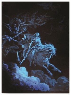 (Laminated) Death Rides A Pale Horse Blacklight Poster (57X75Cm) Print New Art
