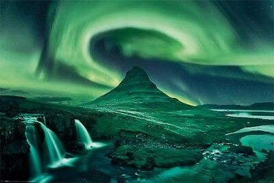Aurora Borealis Northern Lights POSTER (61x91cm) Picture Print New Art