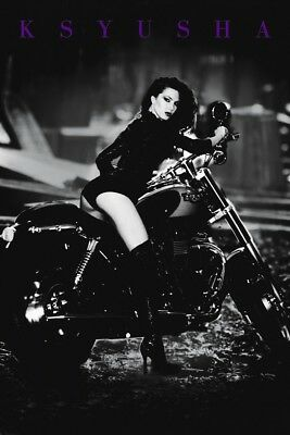 Ksyusha Pinup Babe On Bike POSTER (61x91cm) Picture Print New Art