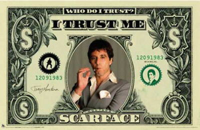 SCARFACE AMERICAN DOLLAR BILL $$ POSTER (61x91cm)  PICTURE PRINT NEW ART