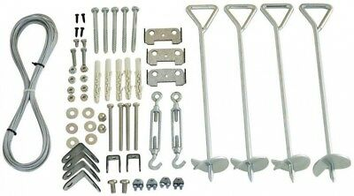 Greenhouse Anchoring Kit Galvanized Steel Anchor 0.33 ft. x 0.33 ft. x 18 in.