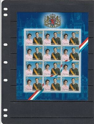 a102 - LUXEMBOURG - SG1544 MNH 2000 SWEARING IN PRINCE HEAD OF STATE - SHEETLET