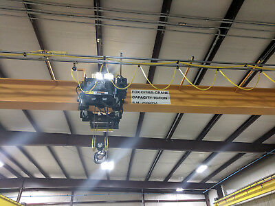 10 Ton overhead crane 46' span,, slightly used!!
