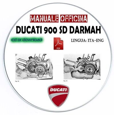 Manuale Officina Ducati 900 Sport Desmo Darmah 1980 Workshop Manual Service