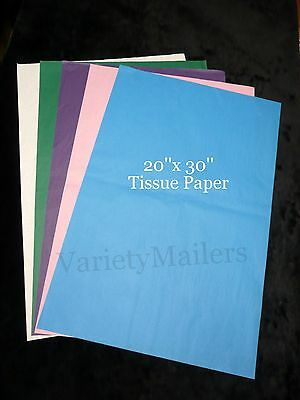 """60 Sheets of Premium Gift Grade Tissue 20""""x 30"""" ~ 5 Color Variety ~ Matte Finish"""