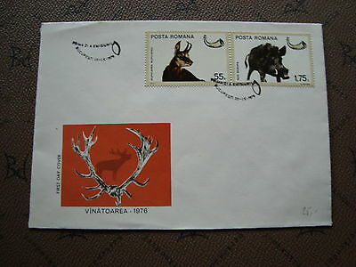 ROMANIA envelope 20/9/76 -stamp Yvert and Tellier n°2980 2981 (cy2)