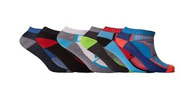 6,12 Pairs Mens Trainer Liner Ankle Funky Designs Adults Sports Socks Uk S 6-11