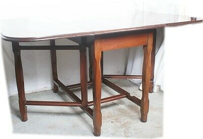 Solid British Beauty - Large Oak Antique Drop Leaf Table Gate Leg English 5X3.5'