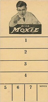 "A Moxie Scorecard, ""To Enjoy The Game, Drink Moxie"""