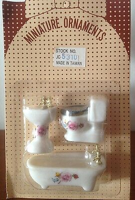 3pc Doll House Porc Bath Set-1/24 Scale - Cheap & Rare!