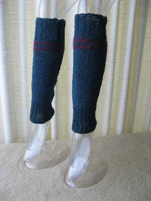 TEAL: Hand Knit Seamless Thick Leg Warmers 100% ALPACA Wool / Yoga Dance