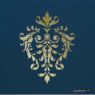 Damask Stencil: for Walls, furniture Fabrics and Art:  ST19
