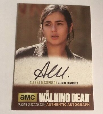 Alanna Masterson Authentic Autograph The Walking Dead Season 4 Part 2