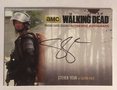 Steven Yeun as Glenn Rhee Authentic Autograph The Walking Dead Season 4 Part 2