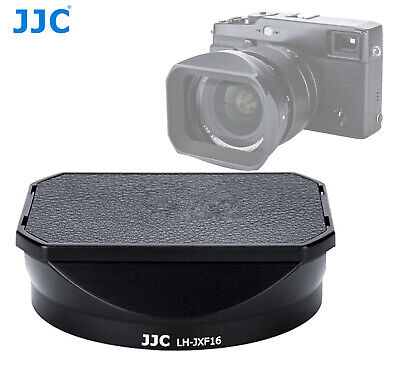 JJC Black Metal lens hood +Cap for Fujifilm XF 16mm f/1.4 R WR replaces LH-XF16