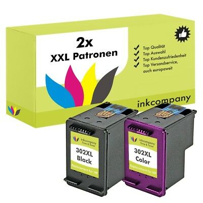 2x CARTUCCE PER HP 302 XL Officejet 4654 3830 3633 4650 DESKJET 2130 3630 1110