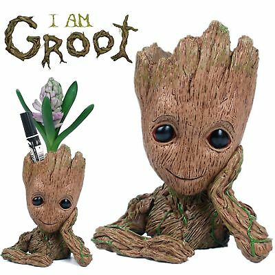 16CM Guardians of The Galaxy Baby Groot Figure Flowerpot Style Pen Pot Gifts Toy