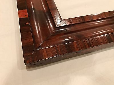 Antique 19th Century 30x17 Large Wood Ogee Victorian Frame for Mirror or Art