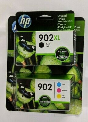 HP Genuine 902XL Ink Cartridges EXP 2019 Cyan Magenta Yellow 3-Pack Tri Color 1