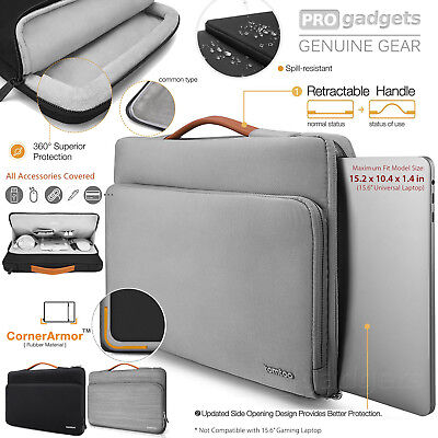 "Genuine Tomtoc 15-15.6"" Protective Laptop Briefcase Bag for HP/Dell/Asus/Macbook"