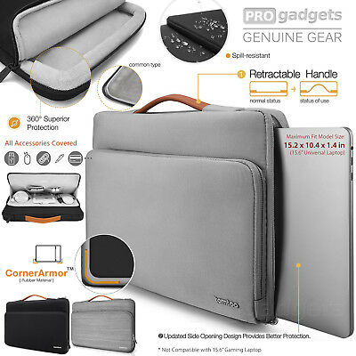 """Genuine tomtoc 15-15.6"""" Protective Laptop Briefcase Bag for HP/Dell/Asus/Macbook"""