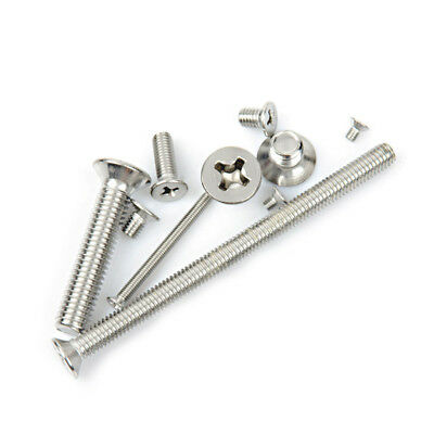 M3/M4/M5/M6 304 Stainless Steel Phillips Cross Countersunk Flat Head Screw Bolts