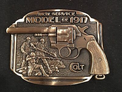 COLT NEW SERVICE Firearms Guns Weaponry BELT BUCKLE Brass USA VTG.80's~NEW!