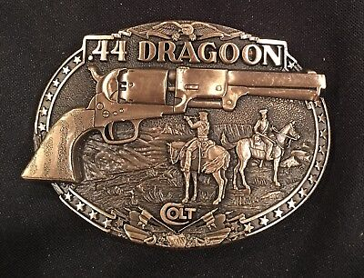 COLT .44 DRAGOON Firearms Guns Weaponry BELT BUCKLE Brass USA VTG.80's~NEW!