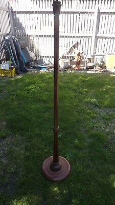 Antique  Vintage standard wooden  Floor  Lamp  Light no wires