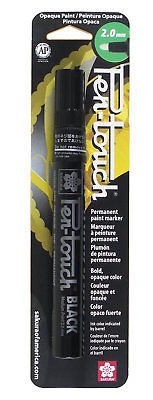 Sakura 42584 Pen-Touch Black 2mm Medium Opaque Permanent Paint Marker