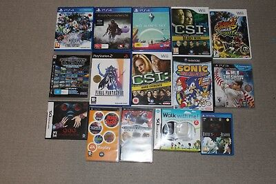 Various Games - Playstation 3, Playstation , PSP, Vita, Gamecube and Wii Games