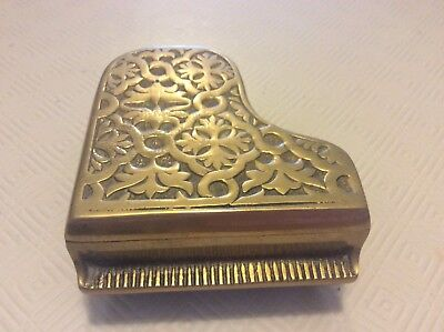 Vintage Brass Piano Lid Opens