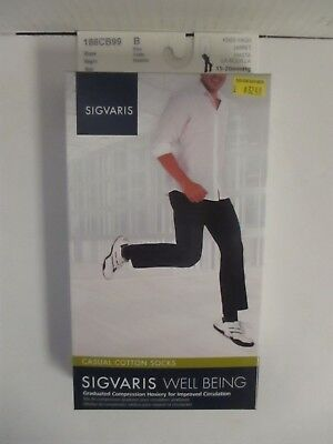 Sigvaris Well Being Casual Cotton Socks Size B Black - Rc 6289