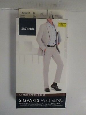 Sigvaris Well Being Business Casual Socks Size B Brown - Rc 6281