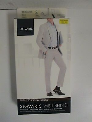 Sigvaris Well Being Business Casual Socks Size C Black - Rc 6284